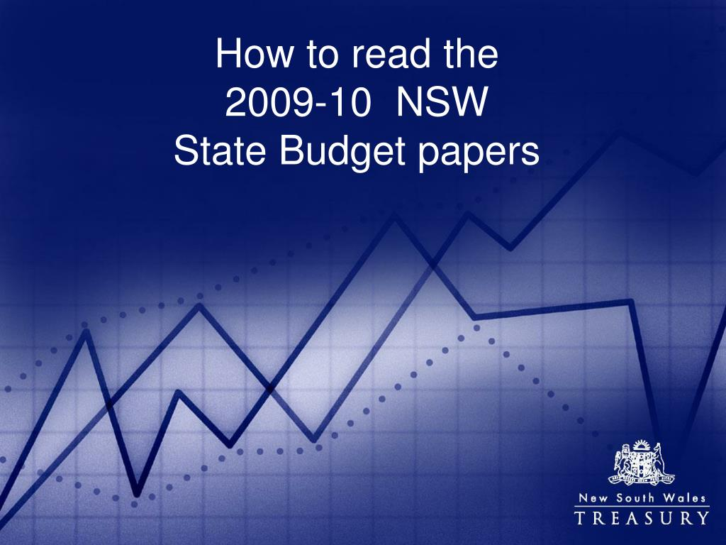 how to read the 2009 10 nsw state budget papers l.