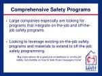 comprehensive safety programs