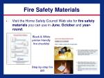 fire safety materials