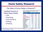 home safety research