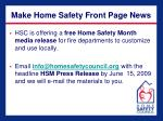 make home safety front page news