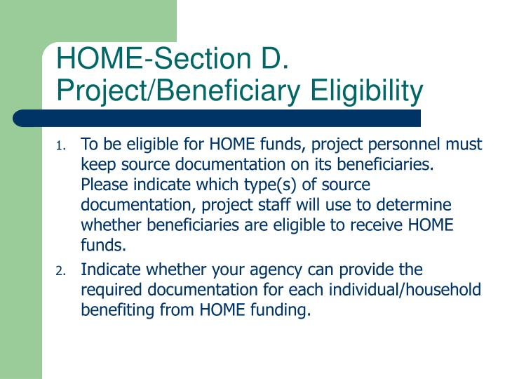 HOME-Section D.