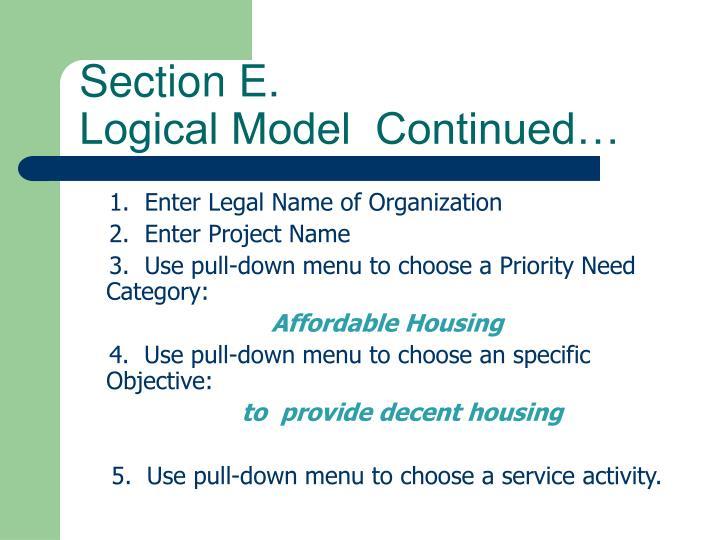Section E.