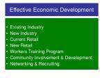 effective economic development