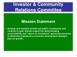 investor community relations committee