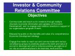 investor community relations committee1