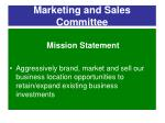 marketing and sales committee