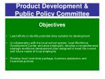 product development public policy committee