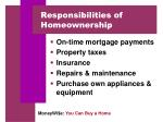 responsibilities of homeownership1