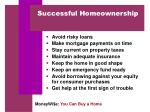 successful homeownership
