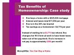 tax benefits of homeownership case study