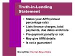 truth in lending statement