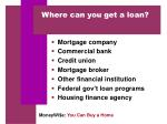 where can you get a loan