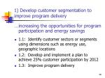 1 develop customer segmentation to improve program delivery