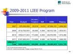 2009 2011 liee program
