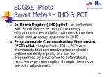sdg e pilots smart meters ihd pct