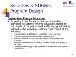 socalgas sdg e program design11