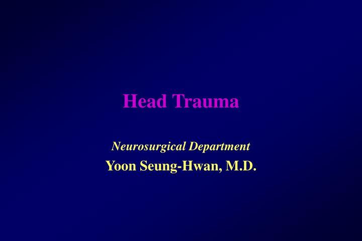 head trauma n.