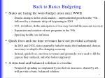 back to basics budgeting