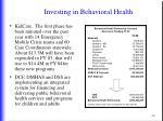 investing in behavioral health