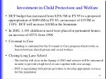 investment in child protection and welfare