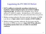liquidating the fy 2002 03 deficit4