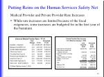 putting reins on the human services safety net8
