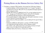 putting reins on the human services safety net9