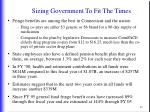 sizing government to fit the times1