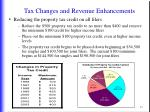 tax changes and revenue enhancements4