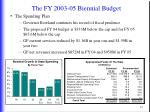 the fy 2003 05 biennial budget