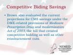 competitive biding savings