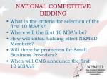 national competitive bidding