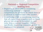 national or regional competitive bidding area