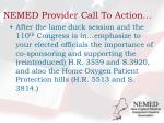 nemed provider call to action
