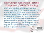 new oxygen generating portable equipment ogpe technology