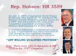 rep hobson hr 3559