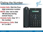dialing the number