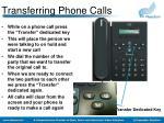transferring phone calls