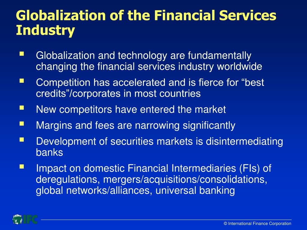 Globalization of the Financial Services Industry