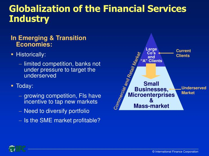 Globalization of the financial services industry3