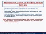 architecture urban and public affairs 822 404