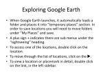 exploring google earth