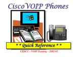 ciscovoip phones