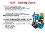 voip training outline