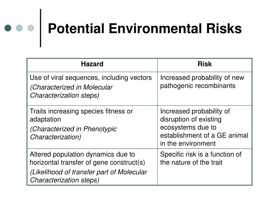 Potential Environmental Risks