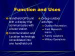 function and uses