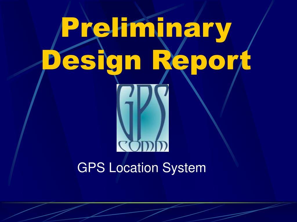 preliminary design report l.