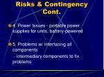risks contingency cont