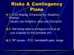 risks contingency plans